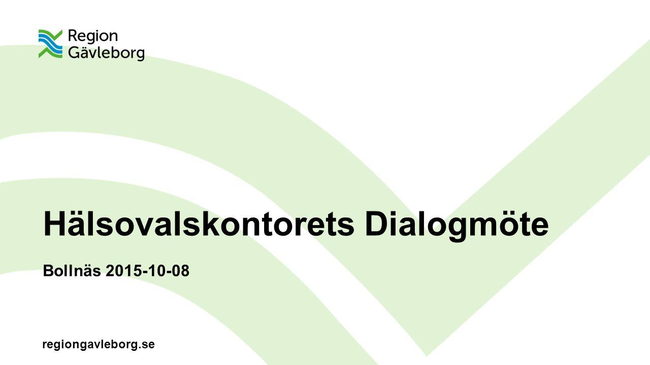 regiongavleborg.se Hälsovalskontorets Dialogmöte Bollnäs 2015-10-08