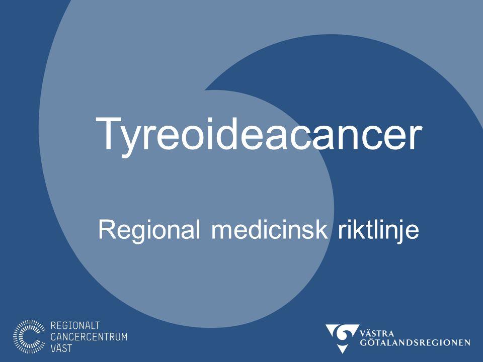 Denna presentation behandlar cancer i tyreoidea.