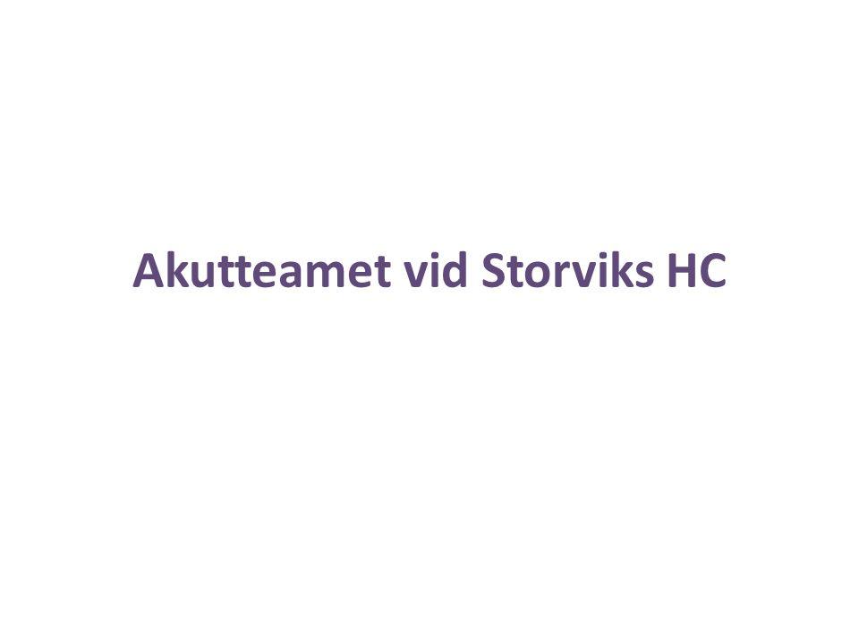 Akutteamet vid Storviks HC