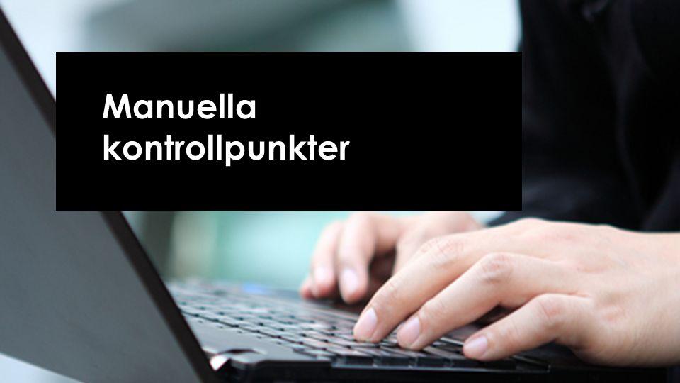 Manuella kontrollpunkter