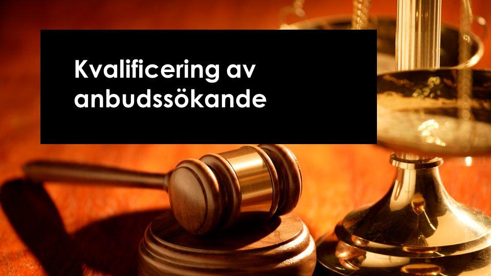 Kvalificering av anbudssökande