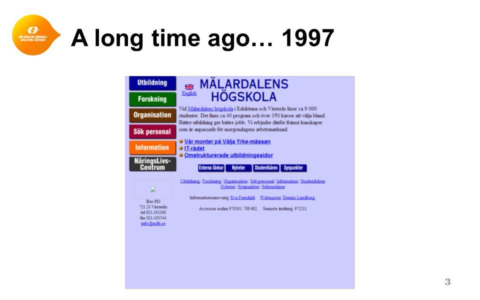 A long time ago… 1997 3