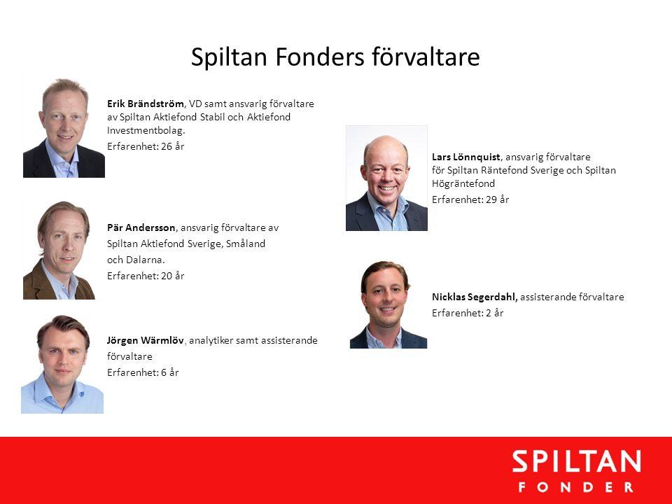 Spiltan Fonders förvaltare Erik Brändström, VD samt ansvarig förvaltare av Spiltan Aktiefond Stabil och Aktiefond Investmentbolag. Erfarenhet: 26 år P