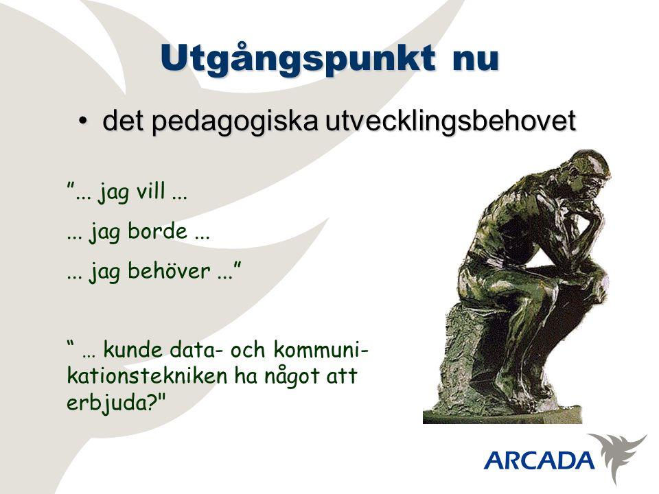 Utgångspunkt nu det pedagogiska utvecklingsbehovetdet pedagogiska utvecklingsbehovet ...