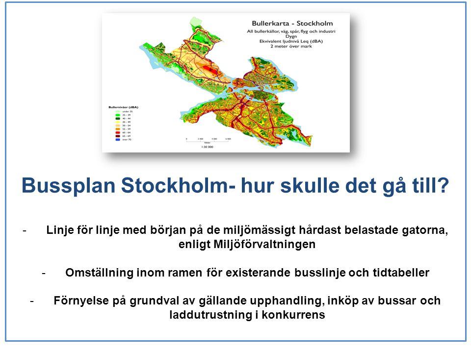 Bussplan Stockholm- hur skulle det gå till.