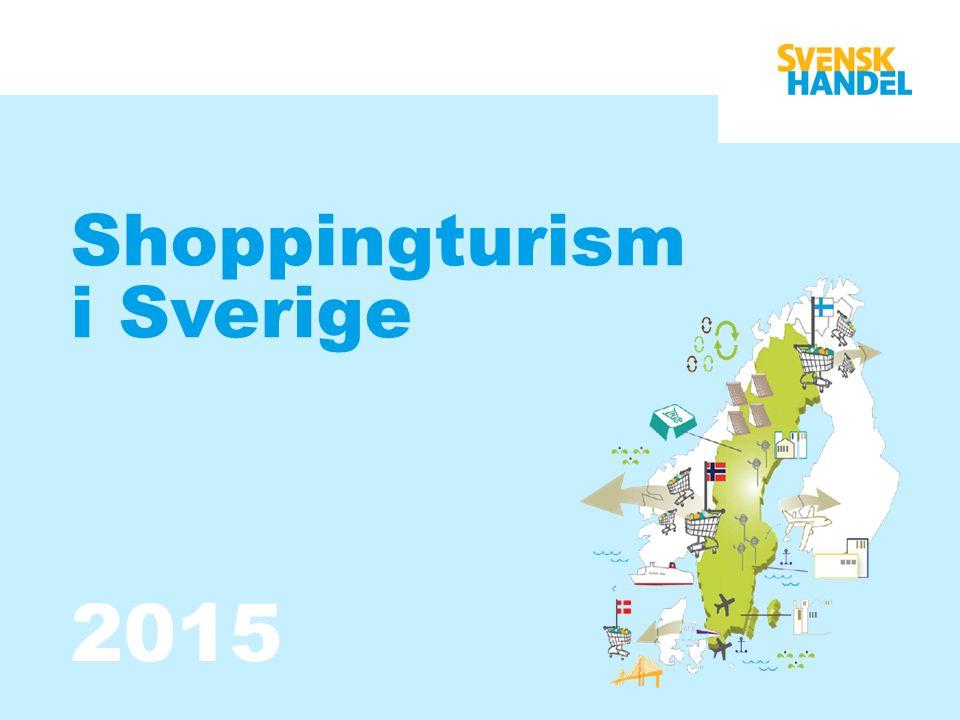 Shoppingturism i Sverige Shoppingturism i Sverige har vuxit i betydelse under de senaste 20 åren.