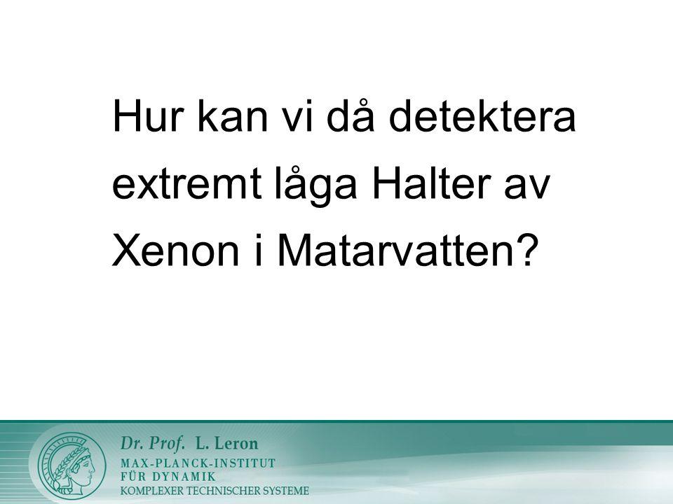 Hur kan vi då detektera extremt låga Halter av Xenon i Matarvatten