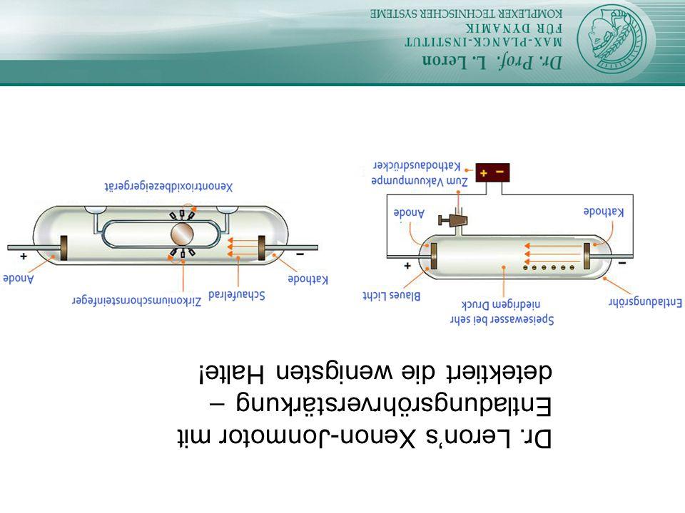 Dr. Leron's Xenon-Jonmotor mit Entladungsröhrverstärkung – detektiert die wenigsten Halte!