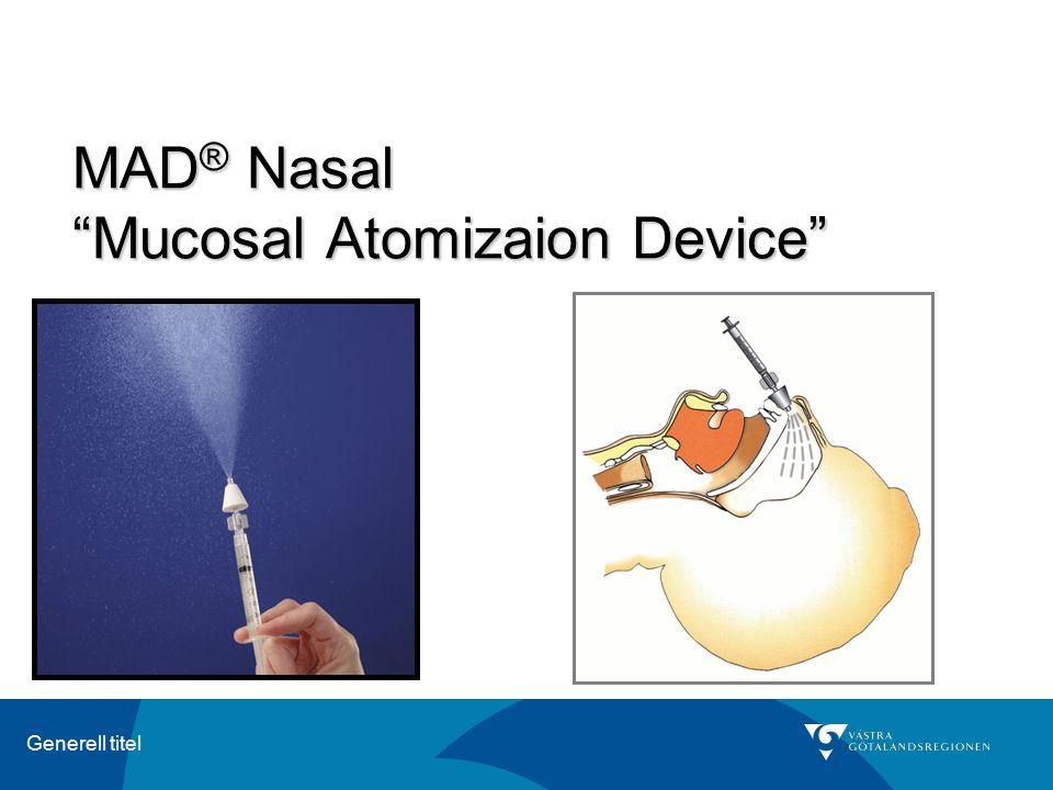 "Generell titel MAD ® Nasal ""Mucosal Atomizaion Device"""