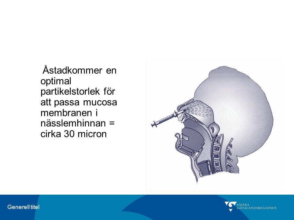 Generell titel Åstadkommer en optimal partikelstorlek för att passa mucosa membranen i nässlemhinnan = cirka 30 micron