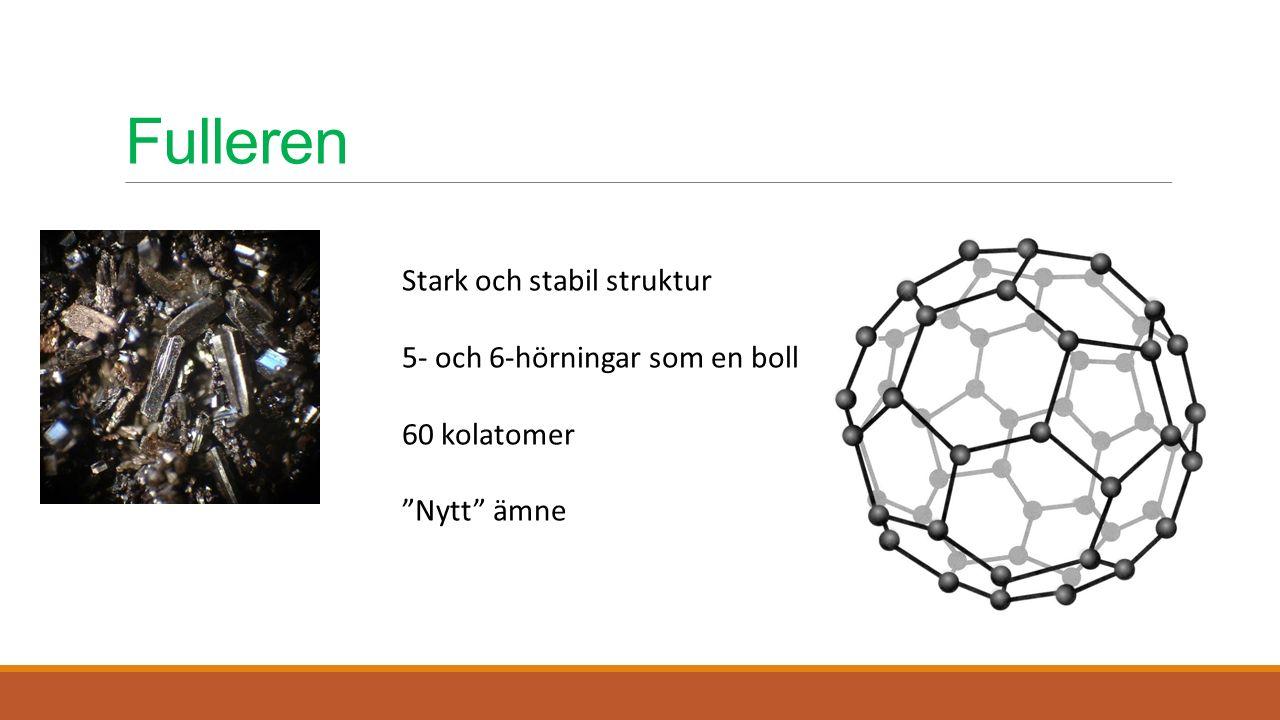"""Fulleren Stark och stabil struktur 5- och 6-hörningar som en boll 60 kolatomer """"Nytt"""" ämne"""
