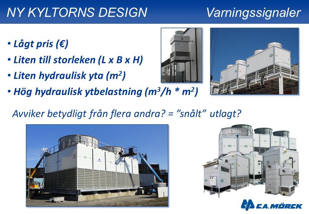 Lågt pris (€) Liten till storleken (L x B x H) Liten hydraulisk yta (m 2 ) Hög hydraulisk ytbelastning (m 3 /h * m 2 ) Avviker betydligt från flera an