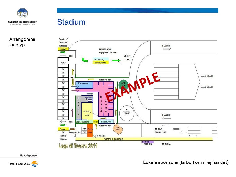 Stadium Arrangörens logotyp EXAMPLE Lokala sponsorer (ta bort om ni ej har det )