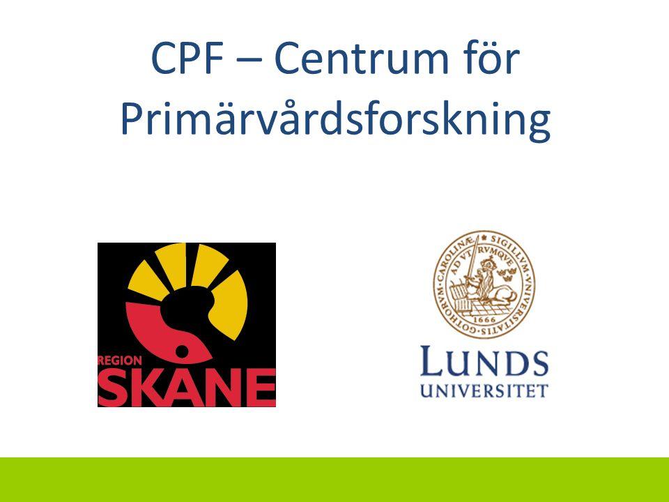 CPF – Centrum för Primärvårdsforskning