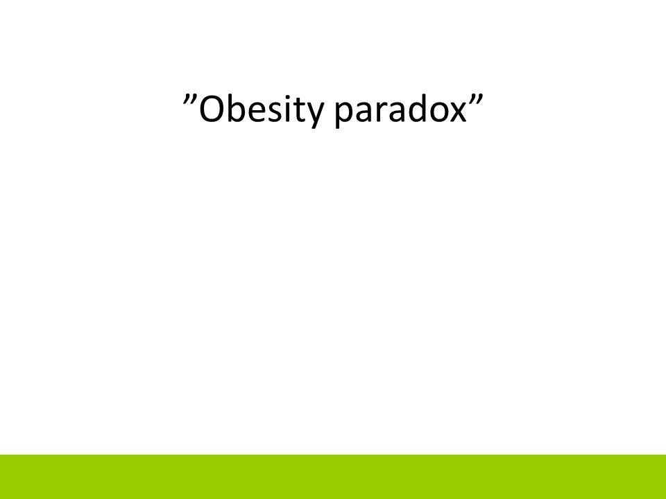 """Obesity paradox"""
