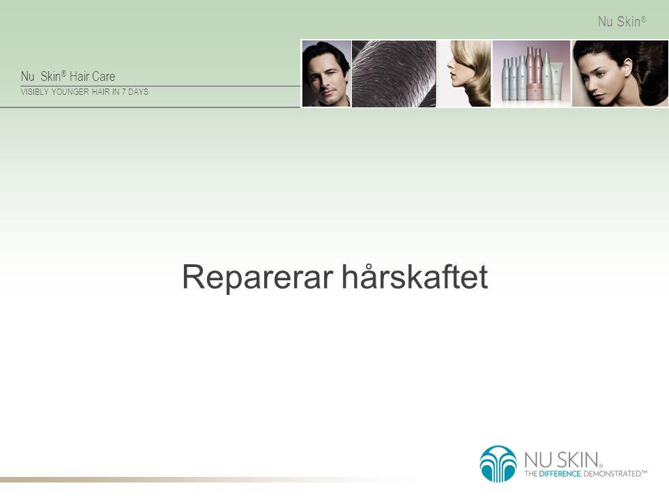 Nu Skin ® Hair Care VISIBLY YOUNGER HAIR IN 7 DAYS Nu Skin ® Reparerar hårskaftet