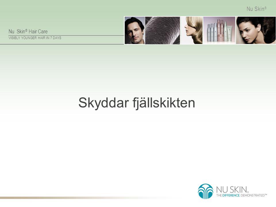 Nu Skin ® Hair Care VISIBLY YOUNGER HAIR IN 7 DAYS Nu Skin ® Skyddar fjällskikten