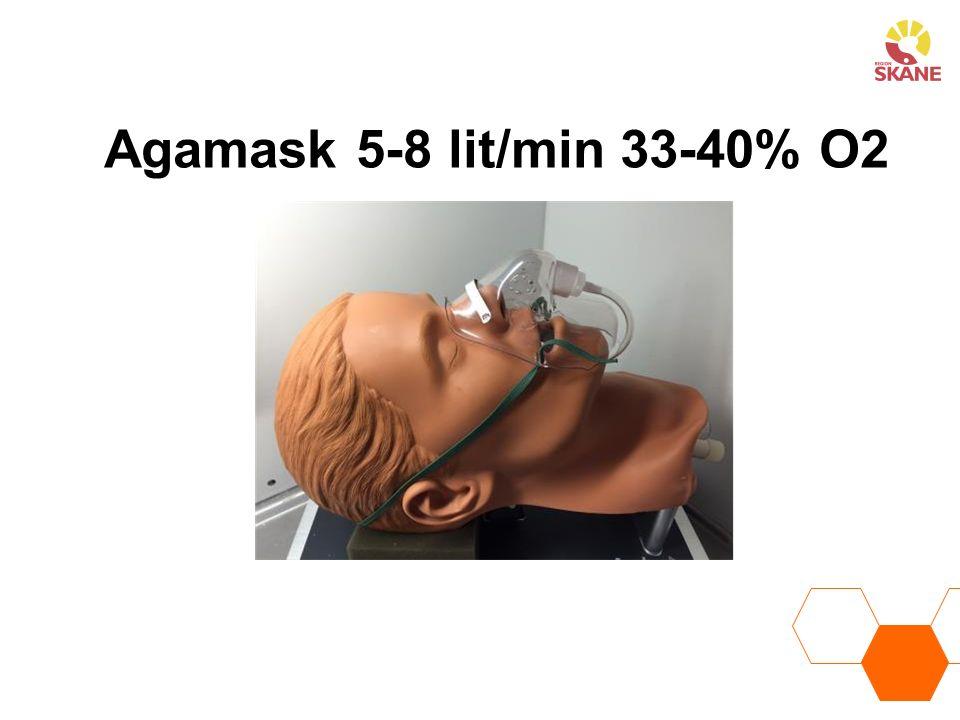 Agamask 5-8 lit/min 33-40% O2