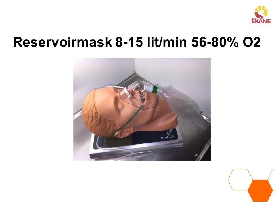 Reservoirmask 8-15 lit/min 56-80% O2