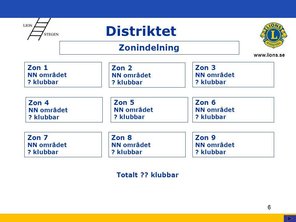 www.lions.se Distriktet 7 Föreg.DG Distriktssekreterare Hedersrådets ordf.
