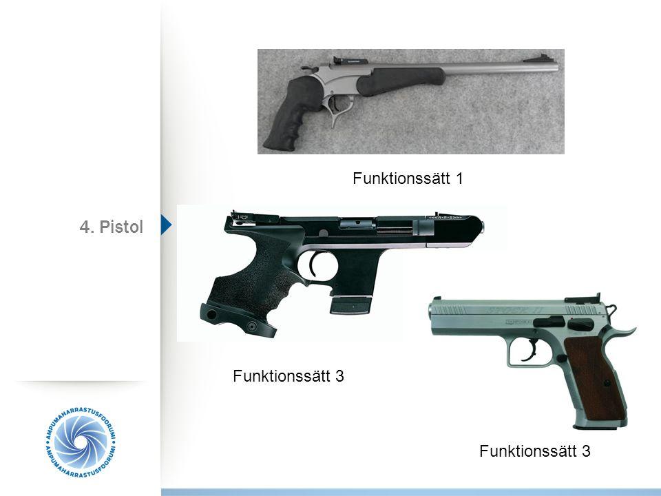 Funktionssätt 1 Funktionssätt 3 4. Pistol Funktionssätt 3