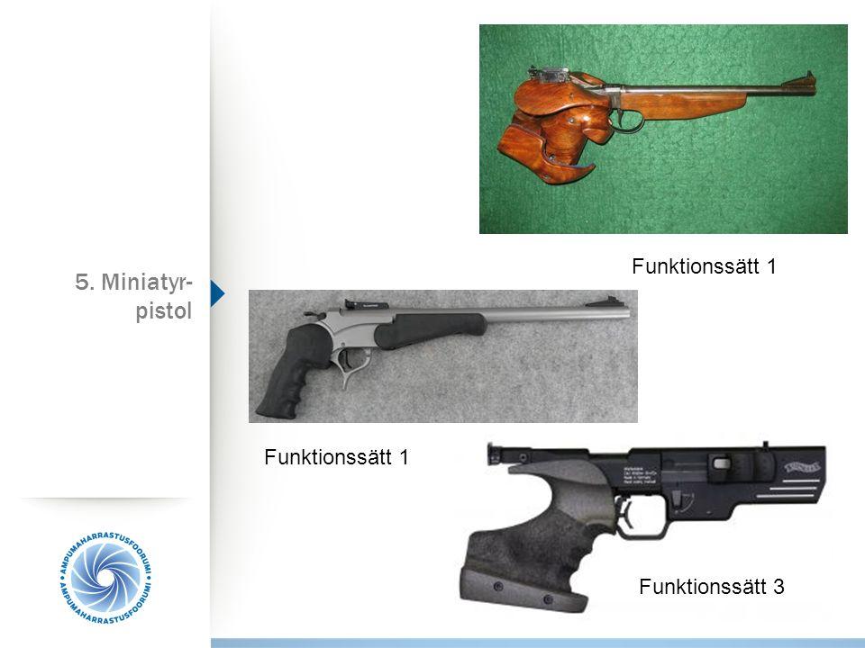 Funktionssätt 1 Funktionssätt 3 5. Miniatyr- pistol