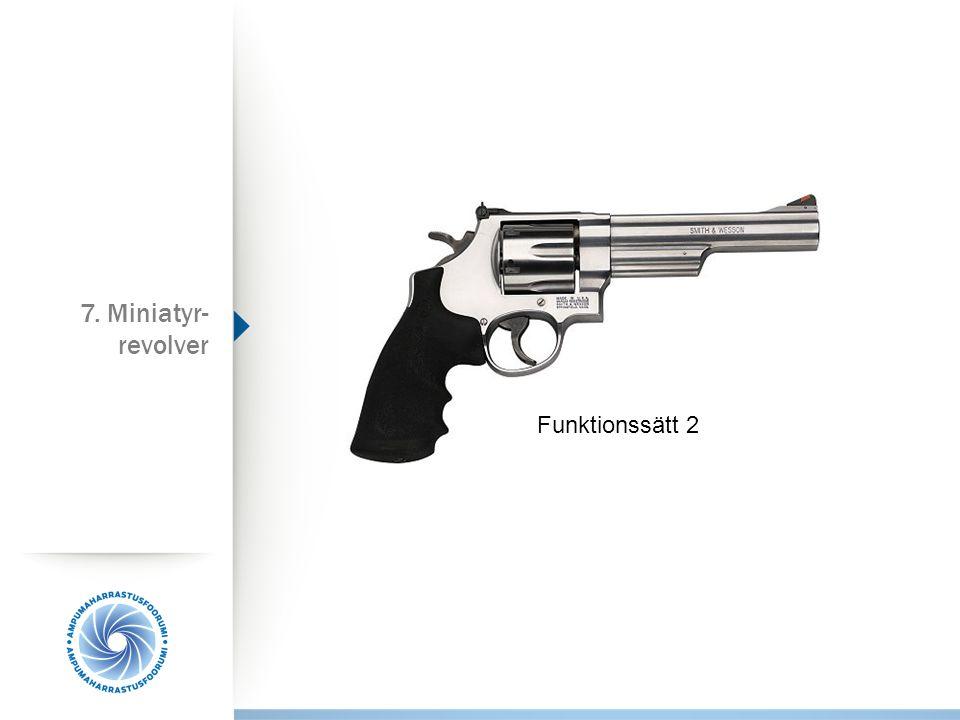 Funktionssätt 2 7. Miniatyr- revolver