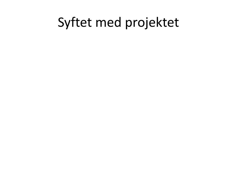 Syftet med projektet