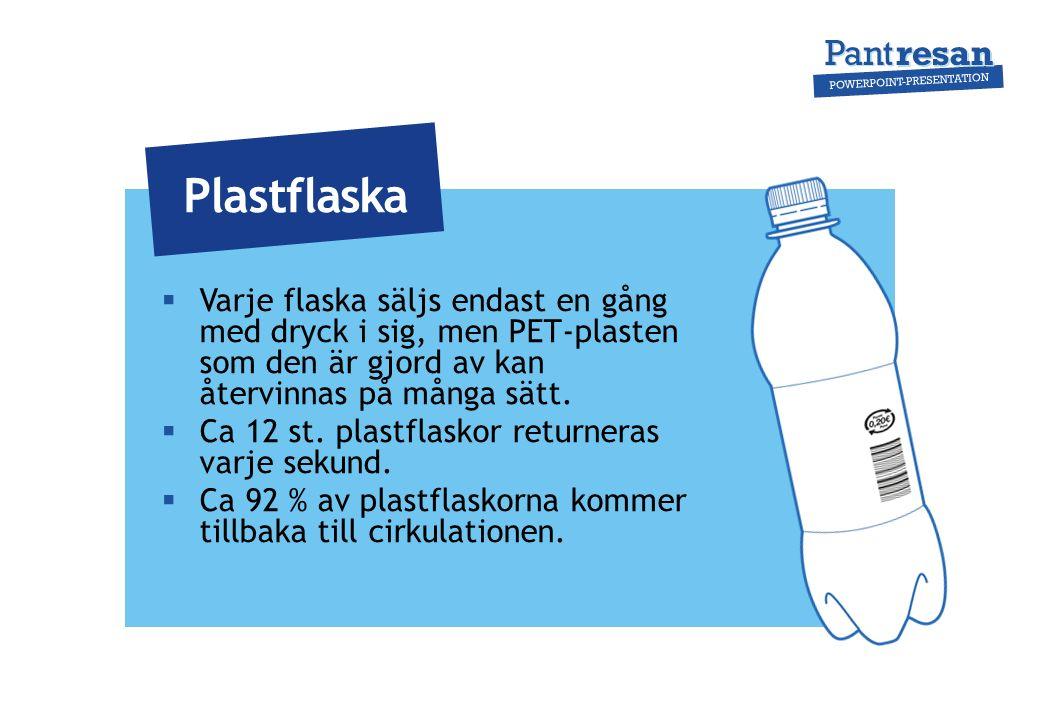  Flaskan används bara en gång men glaset som material kan återvinnas nästan i det oändliga.
