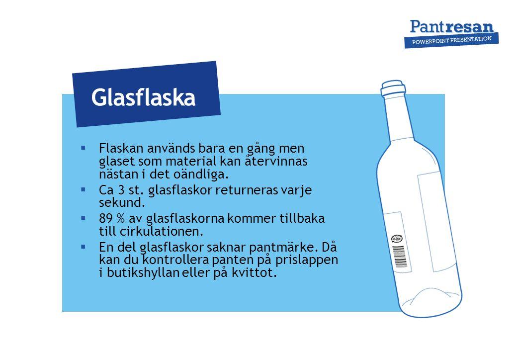  De återfyllbara glasflaskorna tvättas och används på nytt i genomsnitt 33 gånger.