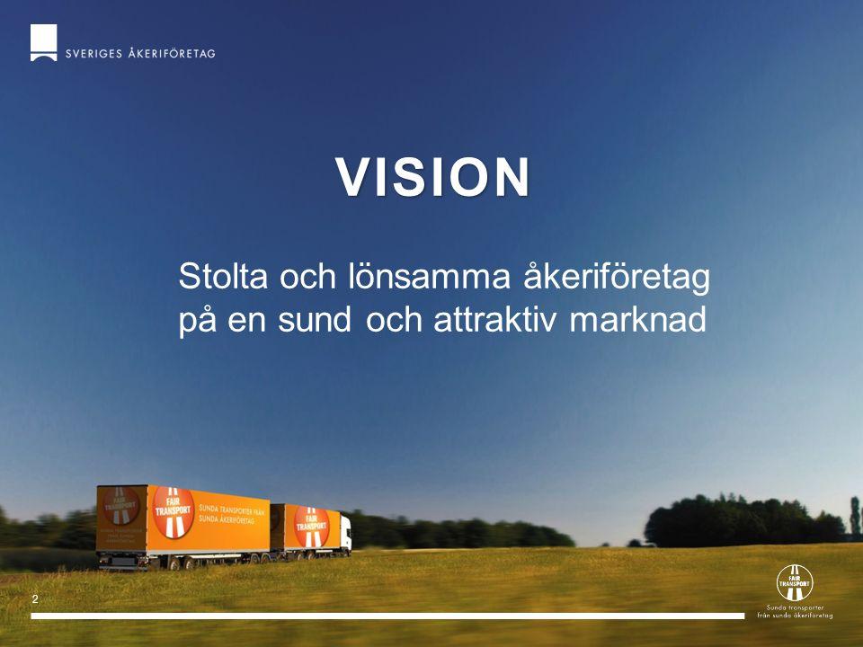 2 VISION Stolta och lönsamma åkeriföretag på en sund och attraktiv marknad
