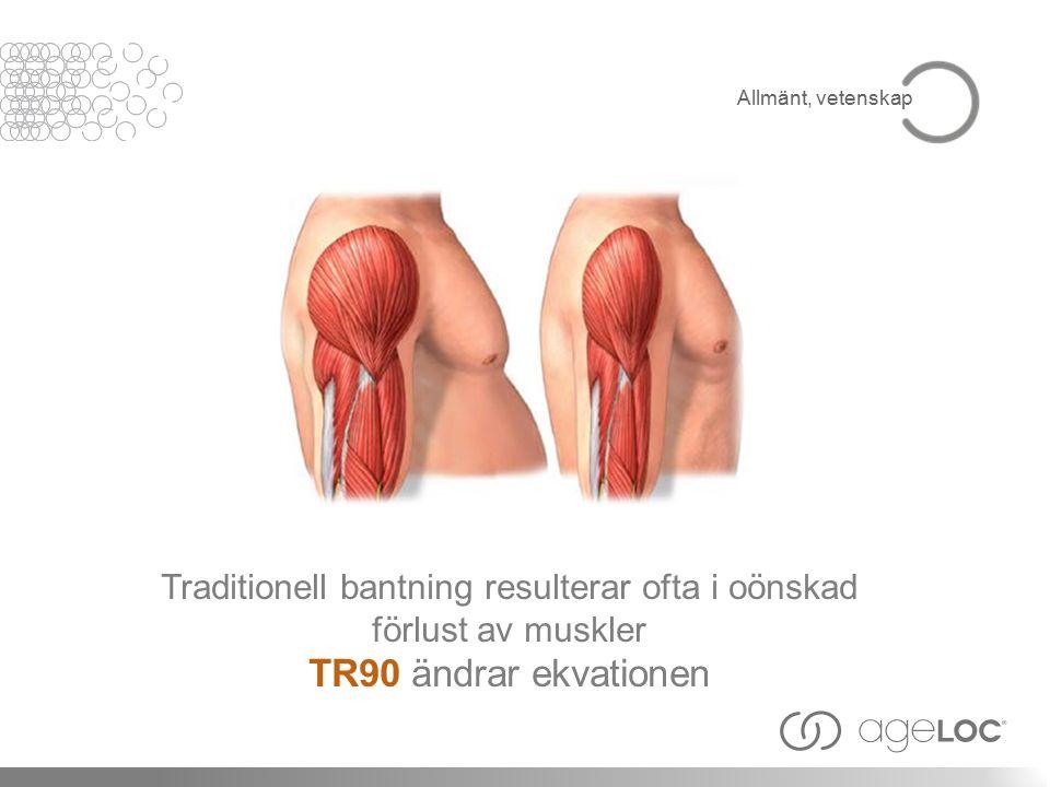 Traditionell bantning resulterar ofta i oönskad förlust av muskler TR90 ändrar ekvationen Allmänt, vetenskap