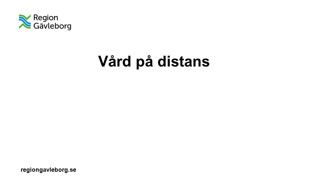 regiongavleborg.se Vård på distans 2014 Förstudie med finansiering av Energimyndigheten Jan – mars 2015 - fördjupning utifrån innovationsperspektiv Juni 2015 – beslut om start med pilotprojekt, 3 verksamheter tillsammans med Ljusdals primärvård