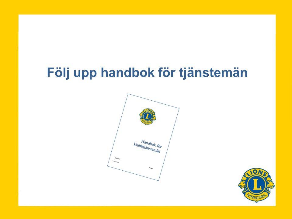Följ upp handbok för tjänstemän