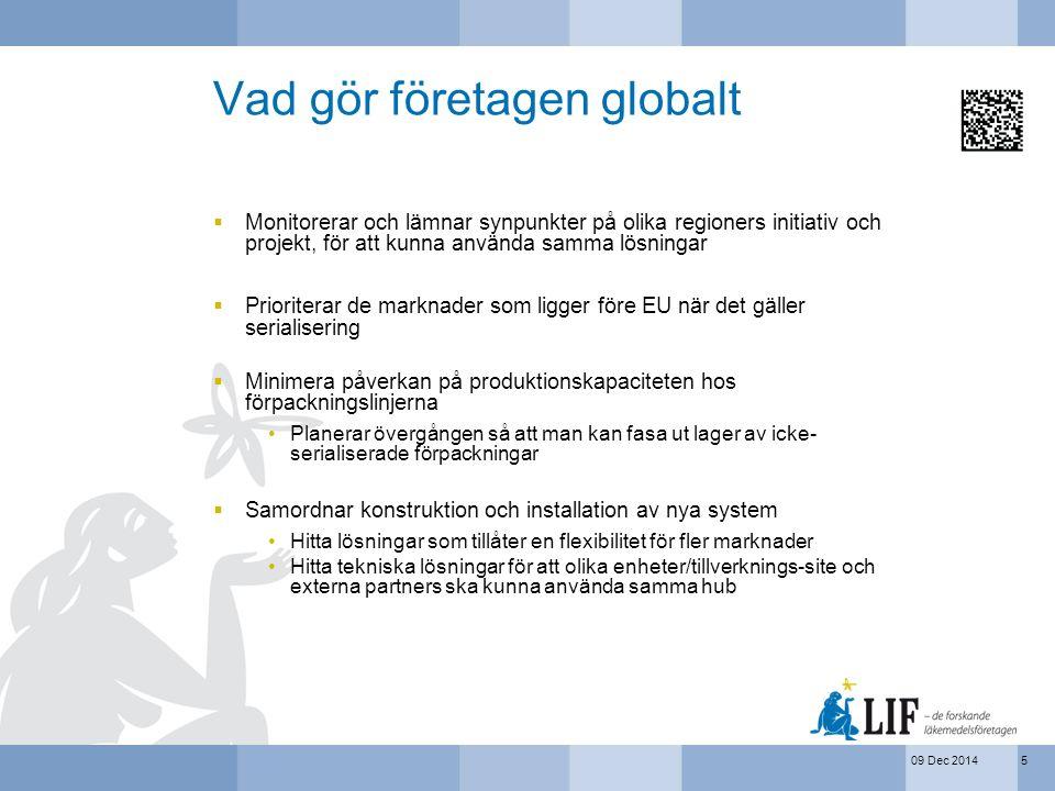 09 Dec 2014 Vad gör företagen globalt  Monitorerar och lämnar synpunkter på olika regioners initiativ och projekt, för att kunna använda samma lösnin