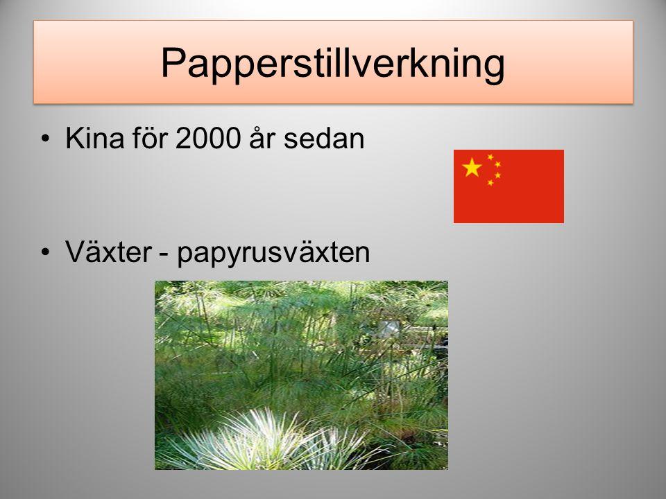 Europa och Sverige LumpPappersmassa