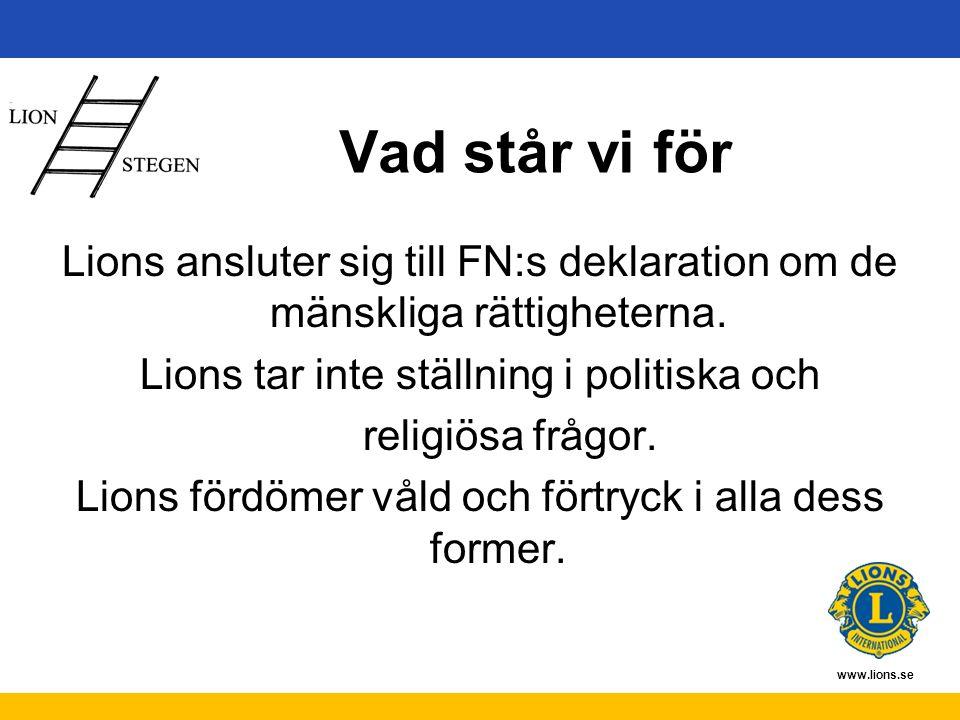 www.lions.se Ekonomi Klubbkassa = medlemsavgifter Hjälpkassa = insamlade medel
