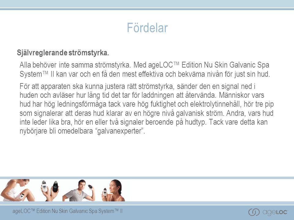 ageLOC™ Edition Nu Skin Galvanic Spa System™ II Självreglerande strömstyrka.