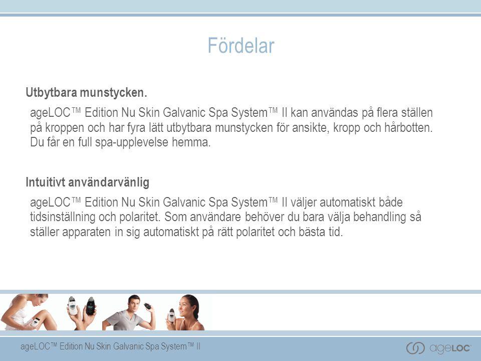 ageLOC™ Edition Nu Skin Galvanic Spa System™ II Utbytbara munstycken.