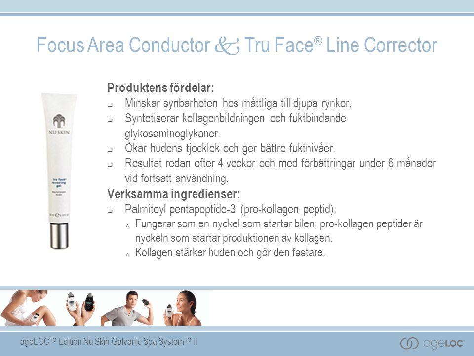ageLOC™ Edition Nu Skin Galvanic Spa System™ II Produktens fördelar:  Minskar synbarheten hos måttliga till djupa rynkor.