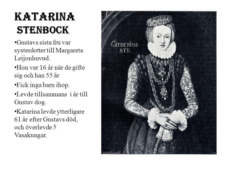 Gustav Vasas död Gustav dör 1560, han blev c.a 64 år gammal Han såg sig som Sveriges landsfader, som förenat sitt rike.