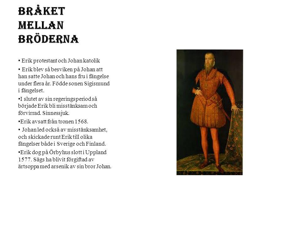 Sigismund Kung 1592-1599 Son till Johan III och Katarina Kung i Polen Han var katolik
