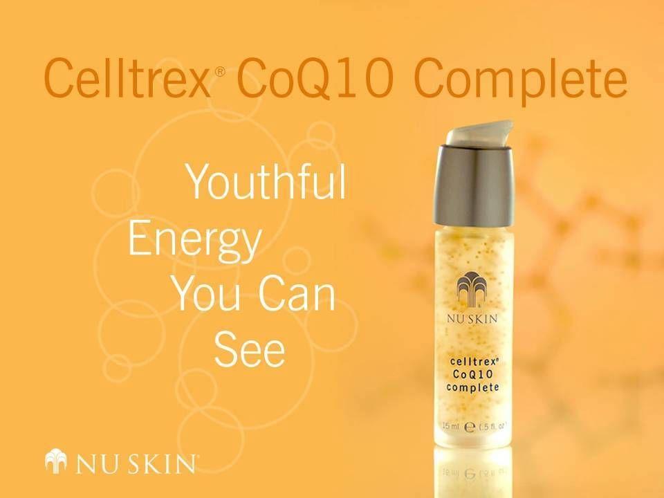 Verksam ingrediens Koenzym Q10 (CoQ10)—en livsviktig antioxidant som finns i våra celler och fungerar som ett koenzym vid generering av cellenergi.