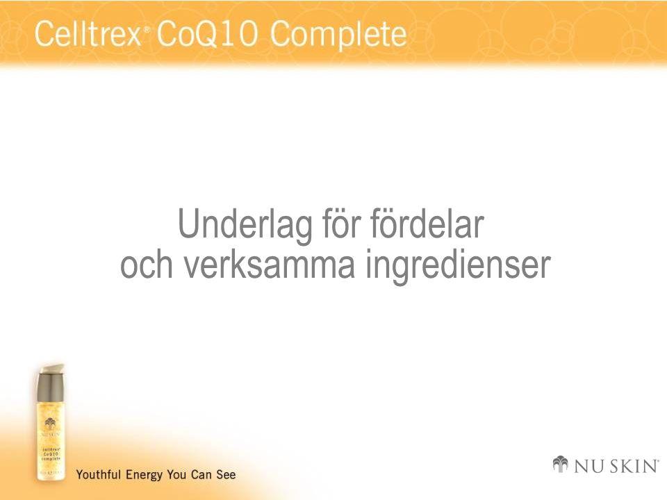 Underlag för fördelar och verksamma ingredienser