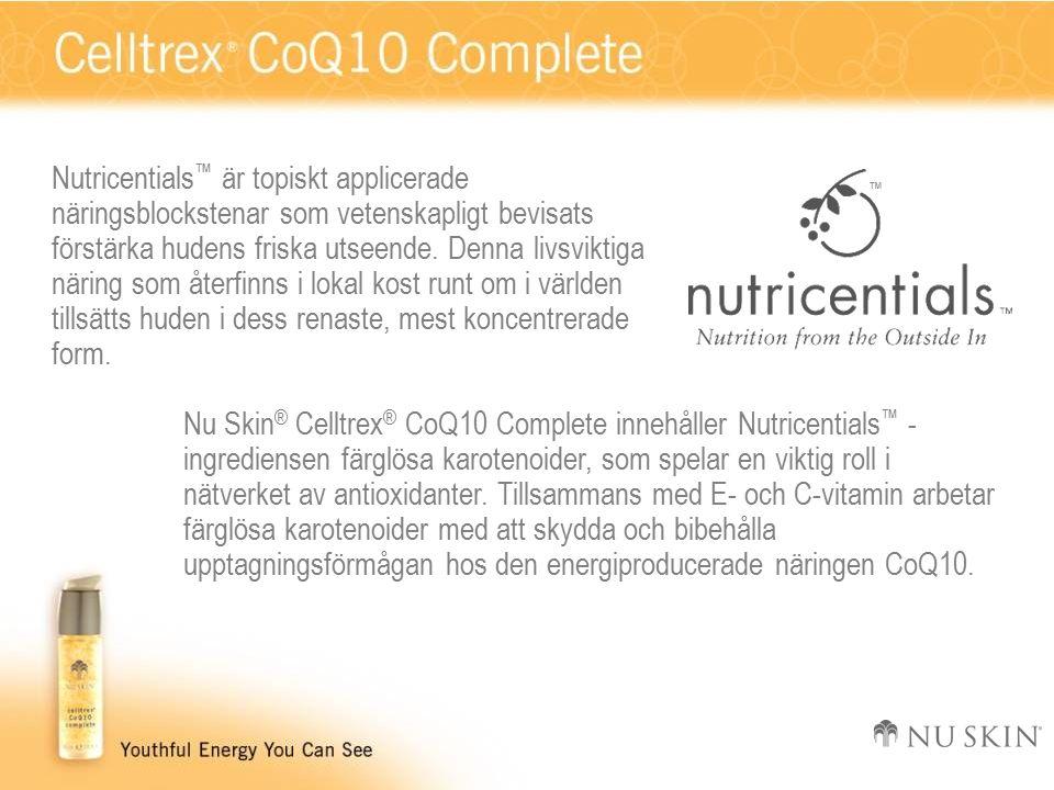 Nutricentials ™ är topiskt applicerade näringsblockstenar som vetenskapligt bevisats förstärka hudens friska utseende.