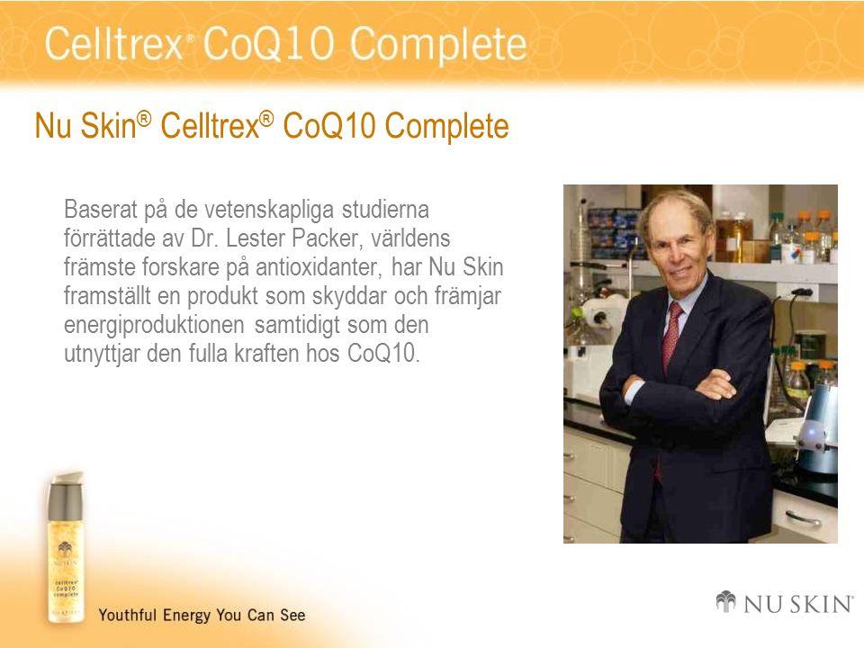 Nu Skin ® Celltrex ® CoQ10 Complete Baserat på de vetenskapliga studierna förrättade av Dr.