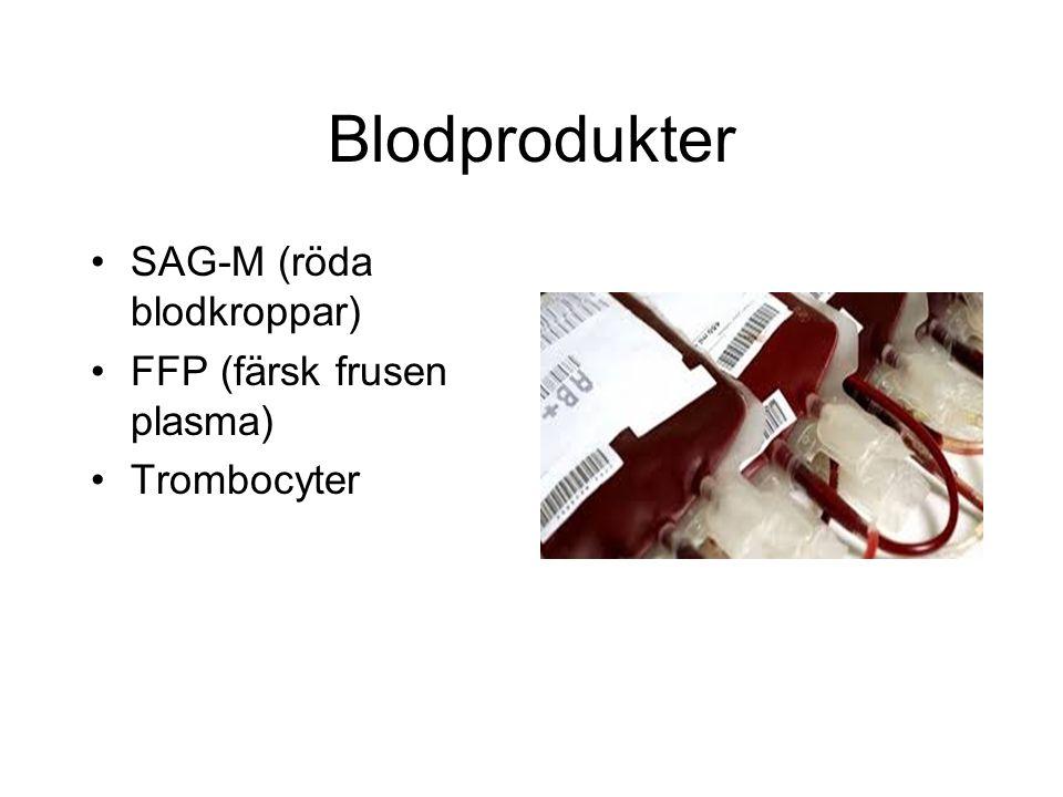 Kolloider Voluven, Macrodex, Tetraspan. Stannar mer i blodbanan än kristalloider. (90% stannar under de första timmarna)