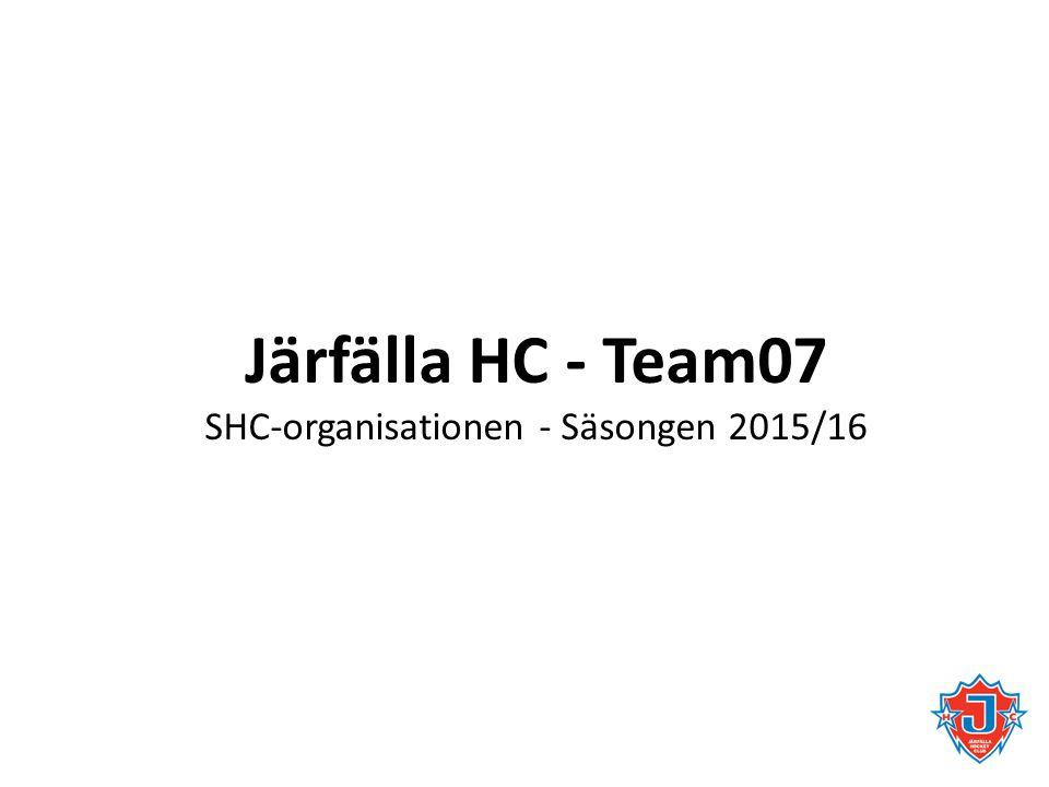 Järfälla HC - Team07 SHC-organisationen - Säsongen 2015/16