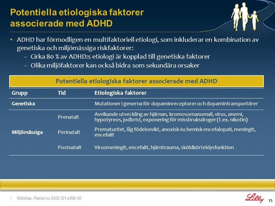 16 1.Liston et al. Biol Psychiatry 2011;69:1168–77. Hjärnregioner involverade vid ADHD