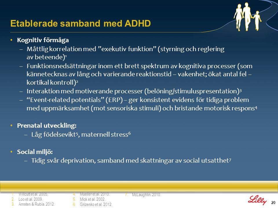 21 1.3 Funktionsnedsättning Avsnitt 1: Bakgrund till ADHD